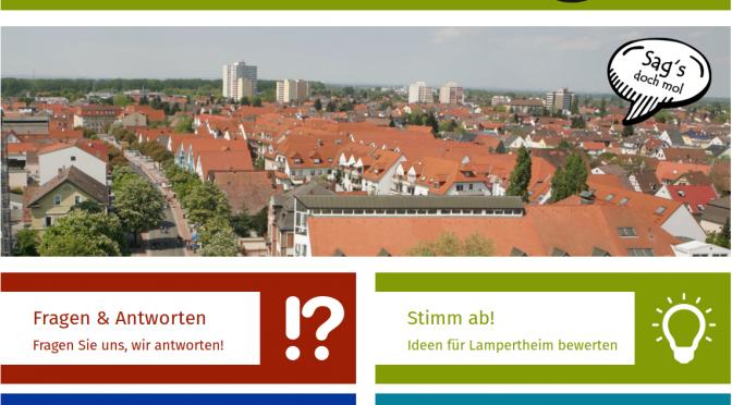 Sag s doch mol Bürgerbeteiligung in Lampertheim