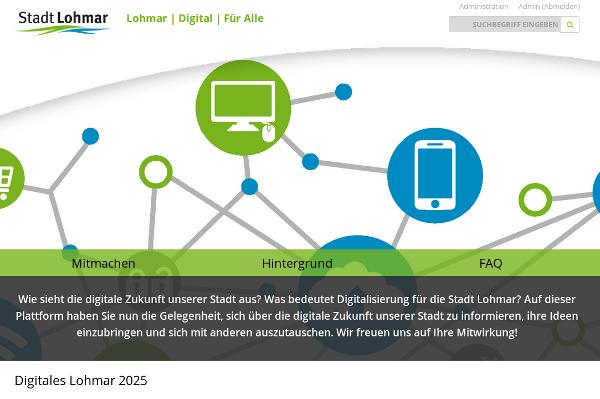 Screenshot der Beteiligungsplattform Lohmar