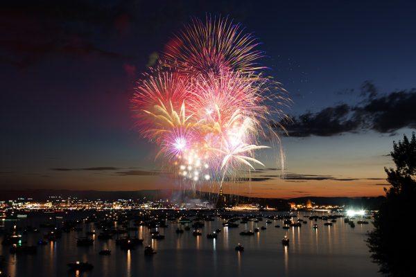 Feuerwerk beim Seenachtfest Konstanz