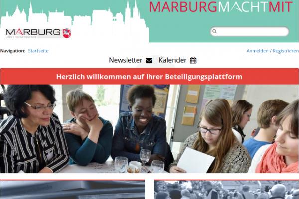 Screenshot Beteiligungsportal Marburg