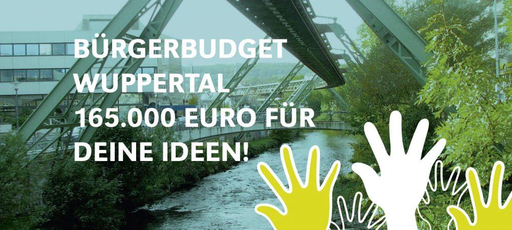 165.000 Euro Bürgerbudget für Bürgerideen in Wuppertal