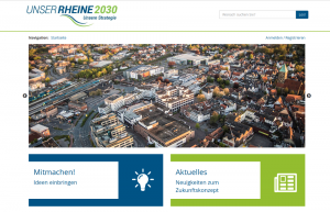 Screenshot der Beteiligungsplattform rheine-mitmachen.de