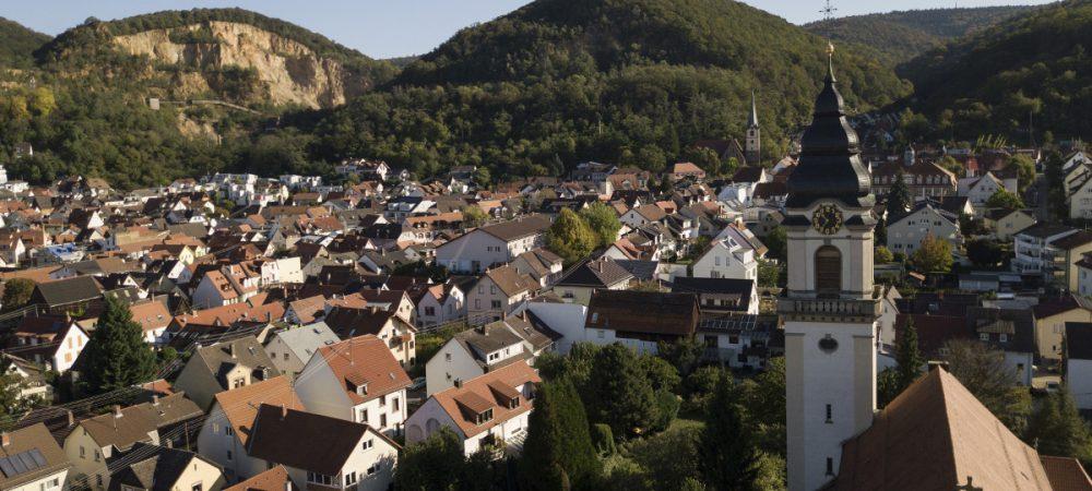 Ansicht Dossenheim, Luftaufnahme