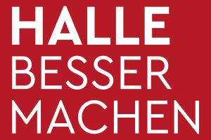 """Wortmarke und Schriftzug zum Projekt """"Halle besser machen"""""""