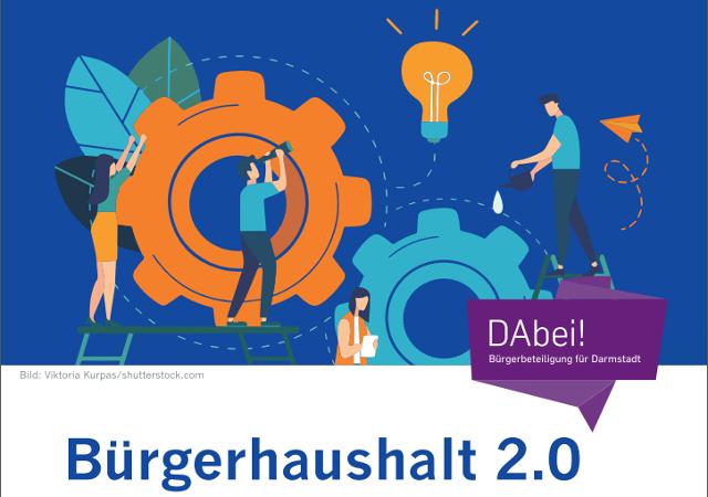 Im Herbst 2020 ruft die Stadt Darmstadt wieder zur Beteiligung am Bürgerhaushalt 2.0 auf. Die Beteiligung findet auf der städtischen Beteiligungsplattform da-bei.darmstadt.de statt.
