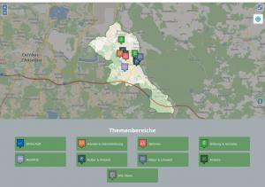 """Ideenkarte der neuen Plattform forstbessermachen.de. Ziel von """"Forst besser machen"""" ist es, das bürgerschaftliche Engagement in Forst/Lausitz zu stärken und voranzubringen."""