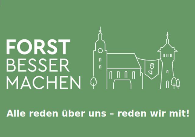 """Logo des Projekts """"Forst besser machen"""". Auf der Online-Plattform forstbessermachen.de können die Bürger ihre Ideen und Visionen für die Region auf einer Ideenkarte eintragen und andere Ideen kommentieren."""