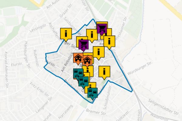 Anliegenkarte in Offenbach Bieber. In Offenbach Bieber findet bis 3.11.2020 eine Online-Beteiligung mit Crowdmapping statt. Die Bürger können dabei ihre Ideen für eine lebendige und zukunftsfähige Ortsmitte eingeben und bewerten.