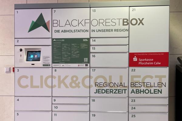 smarte Abholstation DIGITAL BLACK FOREST