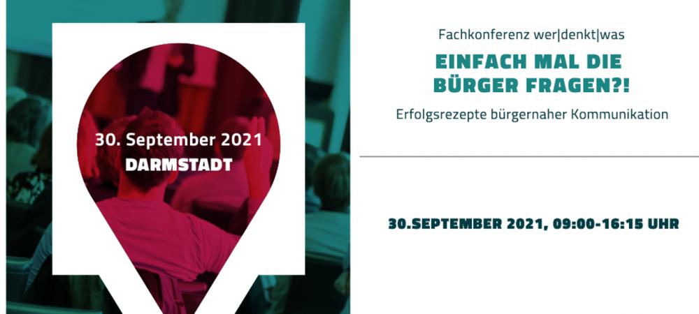 """Fachkonferenz """"Einfach mal die BürgerInnen fragen?!"""" am 30.September 2021"""
