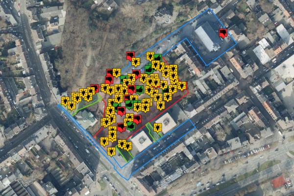 Kartenbasierte Beteiligung zur Umgestaltung Deweerth'scher Garten