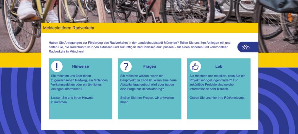 Radverkehrsmelder in München - Startseite
