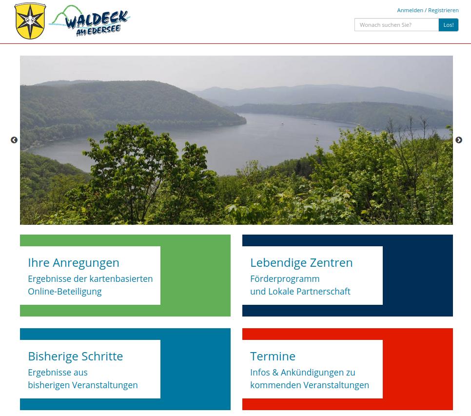 Online-Beteiligungsplattform ISEK Waldeck