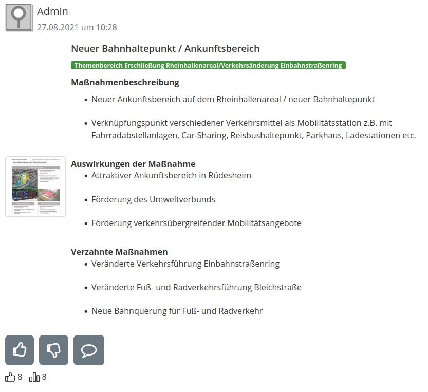Steckbrief Maßnahmenkommentierung Stadt Rüdesheim